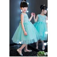儿童礼服 公主裙婚纱蓬蓬裙春夏 女童主持演出服花童礼服