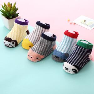5双装夏季新款儿童船袜棉礼盒装卡通婴儿短袜透气薄款纯棉宝宝袜子