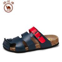 骆驼牌男鞋夏季日常休闲透气拖鞋平跟包头男鞋子凉鞋沙滩鞋