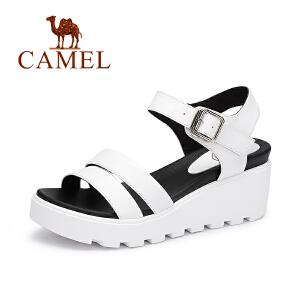 Camel/骆驼女鞋 夏季新品时尚舒适简约凉鞋 韩版柔软凉鞋女