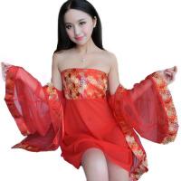 女夏天蕾丝吊带睡裙两件套装中裙情趣内衣性感睡衣
