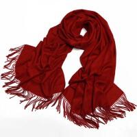 丝巾纯色人造棉围巾情侣女百搭冬季保暖空调两用披肩
