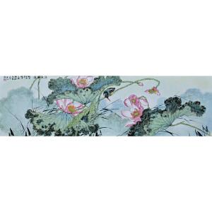 中国陶瓷书画艺术大师 危民旺 粉彩瓷板《清香溢远》