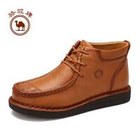 骆驼牌女鞋  冬季时尚简约手工缝制女靴子舒适休闲女鞋