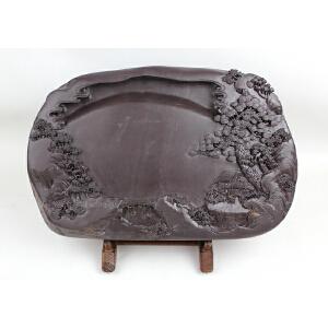 梁庆昌作品 麻子坑《高瞻远瞩》砚 品相出色 实用珍藏