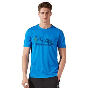 凯瑞摩karrimor春夏新款运动户外男士速干圆领短袖T恤