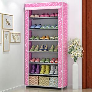 亚思特 时尚防尘防潮7层鞋柜 储物柜 层架 加厚淋膜无纺布鞋橱 鞋架07C