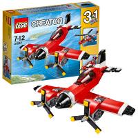 乐高积木玩具LEGO益智拼插积木男孩玩具创意百变3合1螺旋桨飞机31047