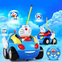 哆啦a梦正版 遥控车赛车玩具车 电动卡通带灯光音乐儿童玩具