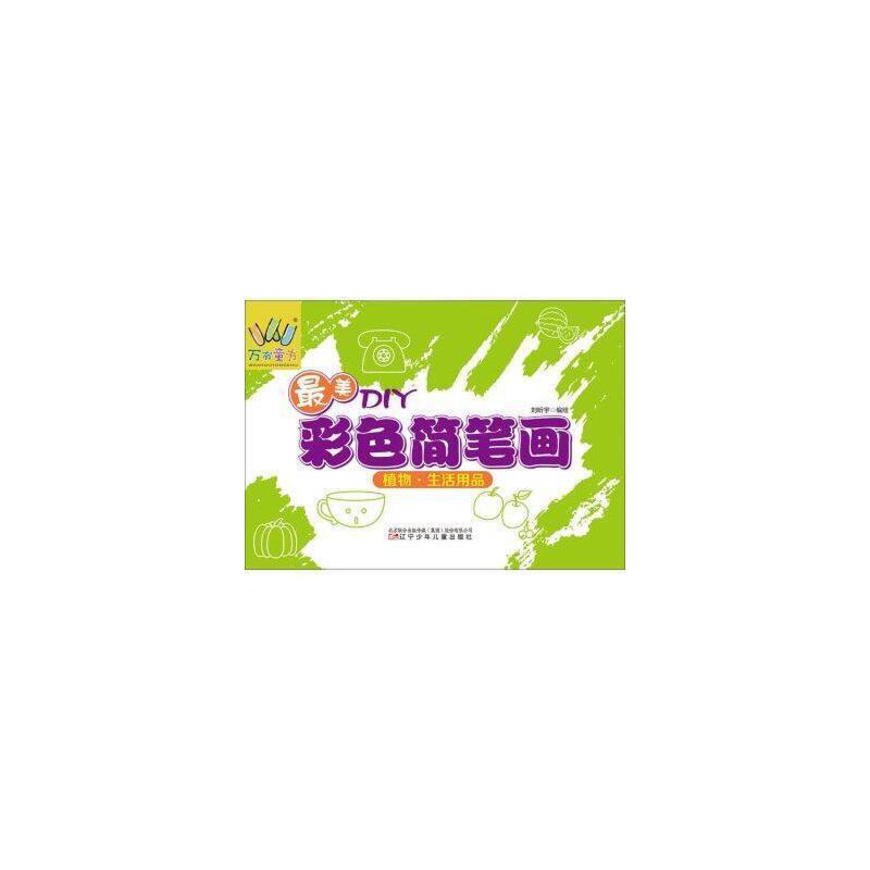 最美diy彩色简笔画 植物 生活用品 刘昕宇 绘 9787531567035 辽宁少年