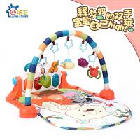 活石婴儿健身架器新生儿脚踏钢琴音乐游戏毯宝宝儿童益智玩具3-6-12个月0-1岁