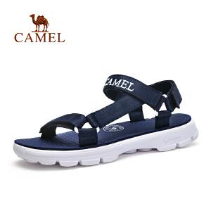 Camel/骆驼沙滩鞋凉鞋 男女士休闲运动凉鞋夏季魔术贴情侣鞋