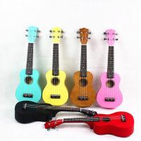 彩色尤克里里ukulele乌克丽丽  夏威夷四弦琴小吉他 儿童吉他 21寸 全椴木 亮光彩色吉他 送( 尤克里里琴套 + 2片拨片+ 教程教材一本)