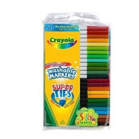 Crayola绘儿乐/千色乐 50色可水洗细杆马克笔/水彩笔58-5050