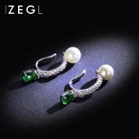 ZENGLIU韩国耳夹无耳洞女 气质长款耳坠简约欧美个性耳饰品夹耳环
