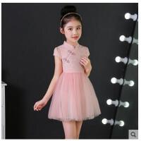 儿童旗袍新款小女孩连衣裙裙子中大童装中国风女童公主裙儿童服装支持礼品卡支付