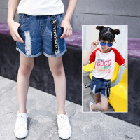 新款女童短裤童装中大童牛仔短裤儿童宝宝薄款热裤子