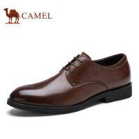 camel骆驼男鞋 商务正装男士皮鞋 尖头简约舒适男皮鞋