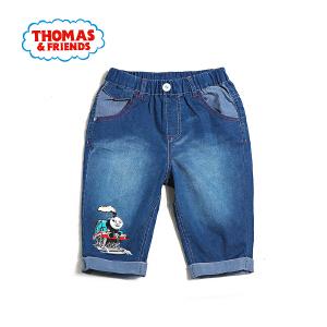 [满200减100]托马斯童装正版授权男童夏装中小童轻薄棉质牛仔短裤五分裤舒适透气