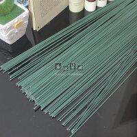 2号 绿色铁丝 玫瑰花杆 川崎玫瑰 手工折纸材料包 铁杆棍 胶包