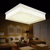 雷士照明 LED水晶客厅吸顶灯 书房卧室长方形客厅灯浪漫温馨灯具