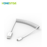 HONESTDA 苹果iPhone5/6/6S/7伸缩数据线 安卓华为/三星车载通用加粗充电线单头PLUS弹簧伸缩充电线