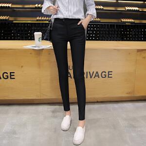 新款韩版打底裤外穿女高腰薄款长裤紧身弹力显瘦铅笔裤小脚裤LB609