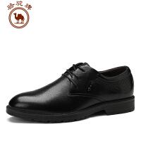 骆驼牌 秋季皮鞋男 系带头层牛皮商务休闲皮鞋男 男鞋