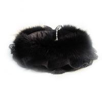 秋冬季女士毛领子时尚假领皮草围脖毛领子双层蕾丝领韩版围巾