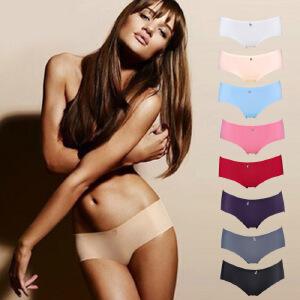 【包邮】正品南极人3条装 新品女式内裤 纯色冰丝一片式无痕内裤纯棉小版三角