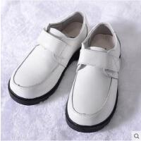 花童皮鞋 舒适透气儿童鞋子儿童白色皮鞋 男童演出白色鞋