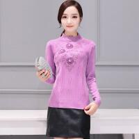 �莱2017春装新款韩版女装纯色半高领长袖针织衫