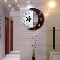 御目 挂钟 现代装饰创意挂钟静音客厅钟表个性简约挂表时尚卧室家用石英时钟满额减限时抢礼品卡钟表