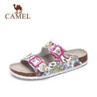 camel 骆驼女鞋 2017夏季新款女士凉拖鞋沙滩鞋日常休闲拖鞋