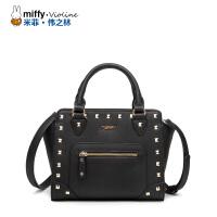 Miffy米菲2017夏新款手提斜挎包 时尚潮流铆钉女士休闲女包包潮
