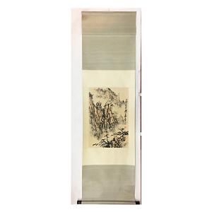 董寿平《山水》纸本立轴