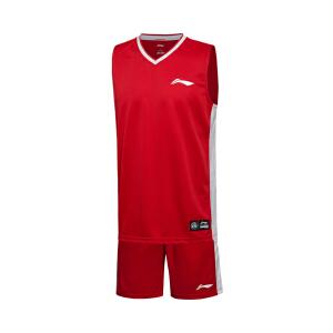 李宁2016新款男装篮球系列速干比赛服套装男士运动服AATL001