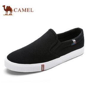 camel骆驼男鞋 夏季套脚鞋 舒适帆布鞋 轻便休闲鞋男鞋单鞋