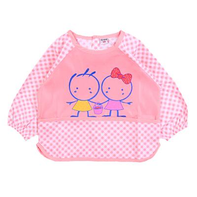 【小兔多多婴儿外出服】卡通可爱画画衣 围裙 幼儿园