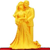 结婚礼品摆件 绒沙金永结同心 婚庆礼品结婚礼物婚房装饰摆件 送朋友礼品 hot
