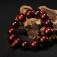 印度小叶紫檀佛珠手串保真手链念珠同料顺纹