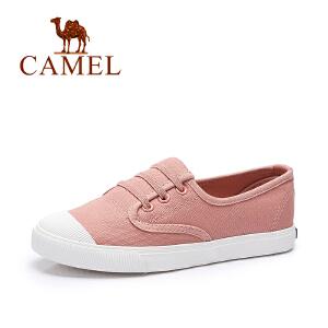 Camel/骆驼女鞋 2017春夏新款 舒适透气帆布鞋 时尚平底鞋