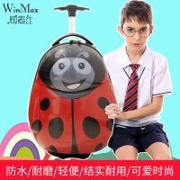 威麦仕(WINMAX)儿童拉杆箱登机箱卡通行李箱轻便旅行箱单拉杆书包拖箱 瓢虫款