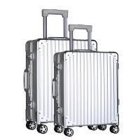 2017新款航空级镁铝合金属拉杆箱登机旅行箱全铝行李箱万向轮男女20寸22寸24寸26寸