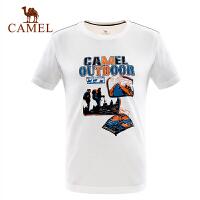 camel骆驼户外男款功能圆领T恤 速干快干宽松透气短袖T