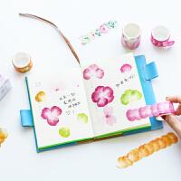 木墨原创日本创意水彩樱花花瓣胶带DIY手账日记本周边小清新装饰贴纸贴画