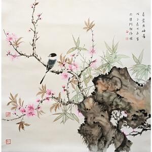 周午生《花鸟》著名画家