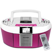【当当自营】熊猫(PANDA) CD-820 数码DVD复读播放机CD胎教机磁带录音机收音收录机MP3播放器音响(玫红色)