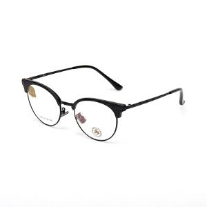 明治/KHDESIGN 圆形眼镜框男女款韩版文艺复古平光镜圆框近视框架KS1736