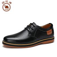 骆驼牌休闲男士皮鞋 新品系带低帮日常休闲男鞋子舒适耐磨